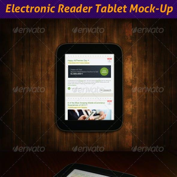 Electronic Reader Tablet Mock-Up