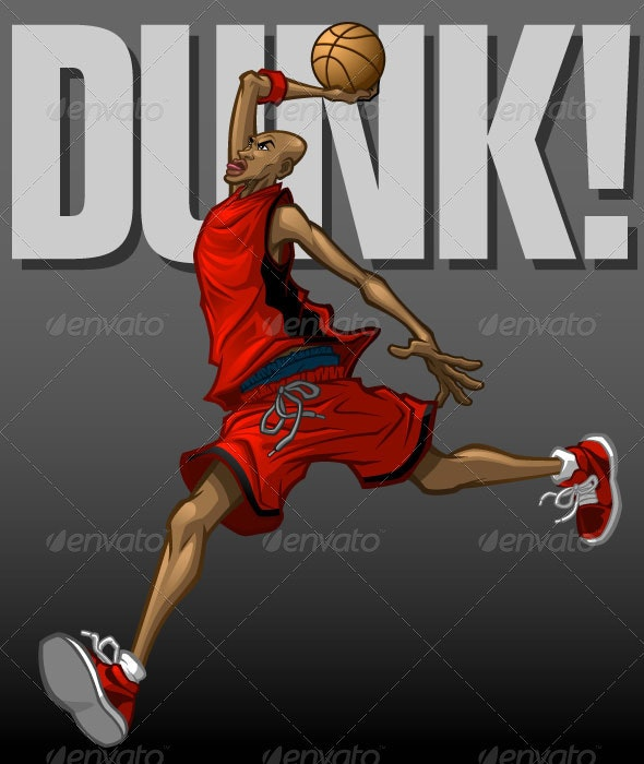 Basketball Player Dunking - People Characters