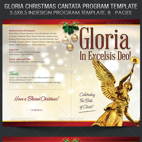 Gloria Christmas Cantata Program Template