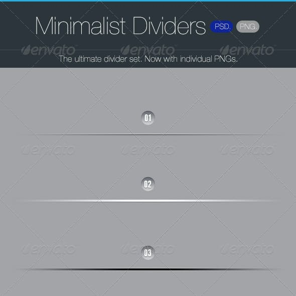 Minimalist Dividers - Resizable