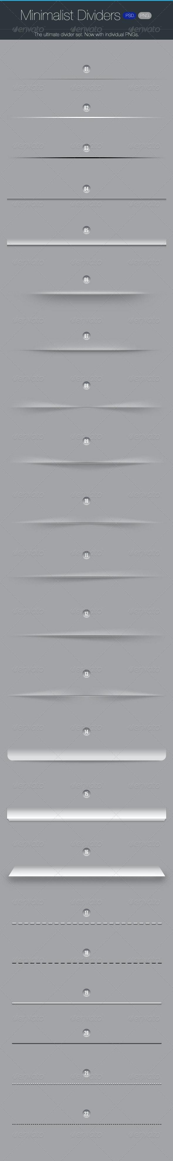 Minimalist Dividers - Resizable  - Miscellaneous Web Elements