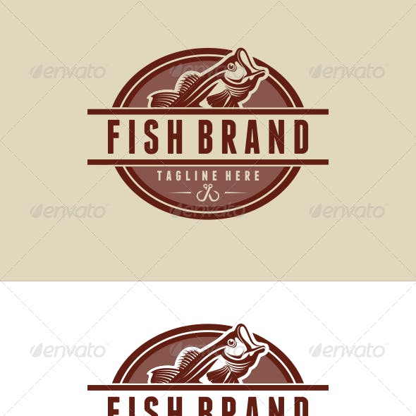 Fish Brand Logo Template