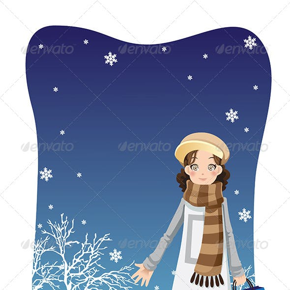 Shopping Winter Girl