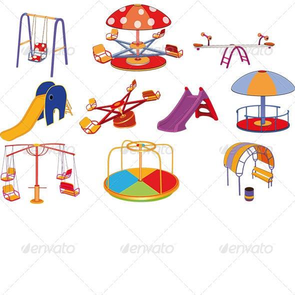 Children's Swing Cartoon Set