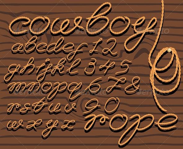 Font Rope  - Decorative Symbols Decorative