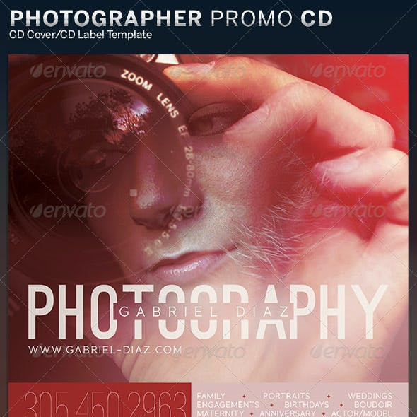 Photographer Promotional CD Cover Artwork Template
