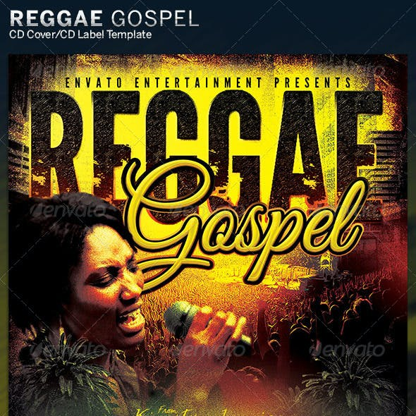 Reggae Gospel : CD Cover Artwork Template