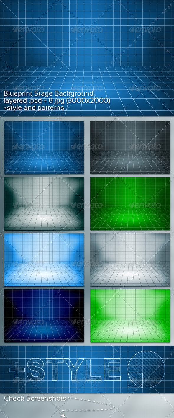 Blueprint Stage Background - Backgrounds Graphics