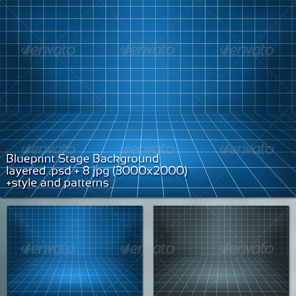 Blueprint Stage Background