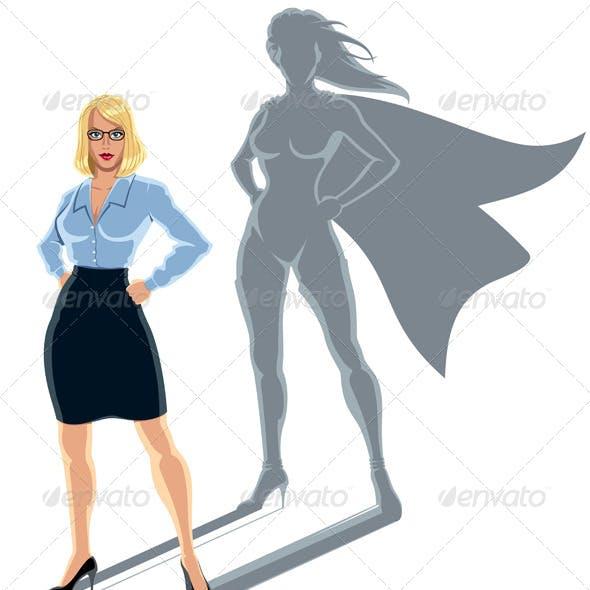 Woman Superhero Concept