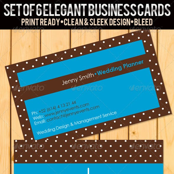 Wedding Planner Business Cards 2
