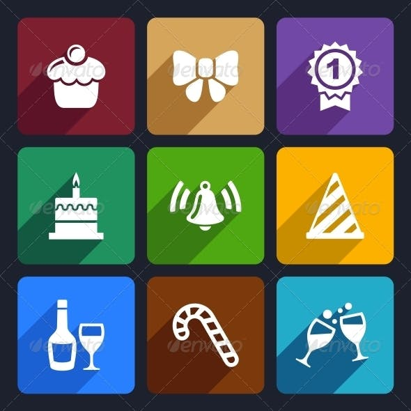 Party and Celebration Icons Set 30