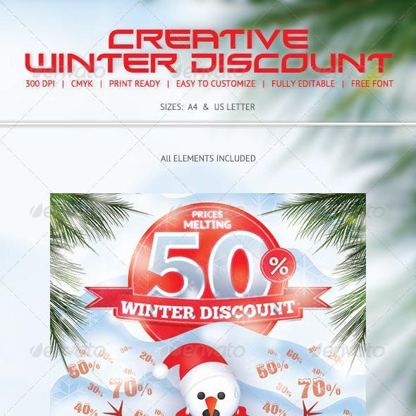 Winter Discount Flyer