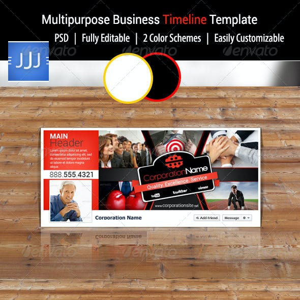 Multipurpose Business Facebook Timeline Cover 6