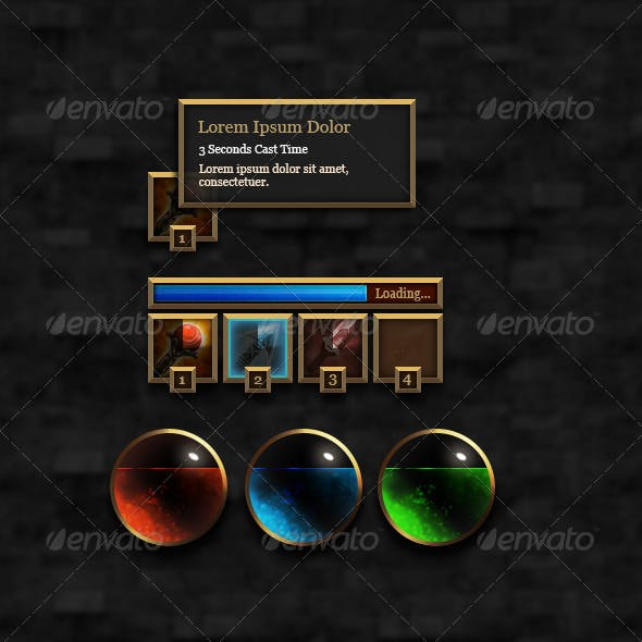 RPG User Interface Elements - Set #1