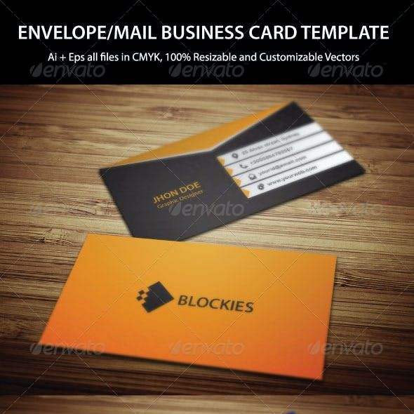 Exclusive Mail Business Card Template