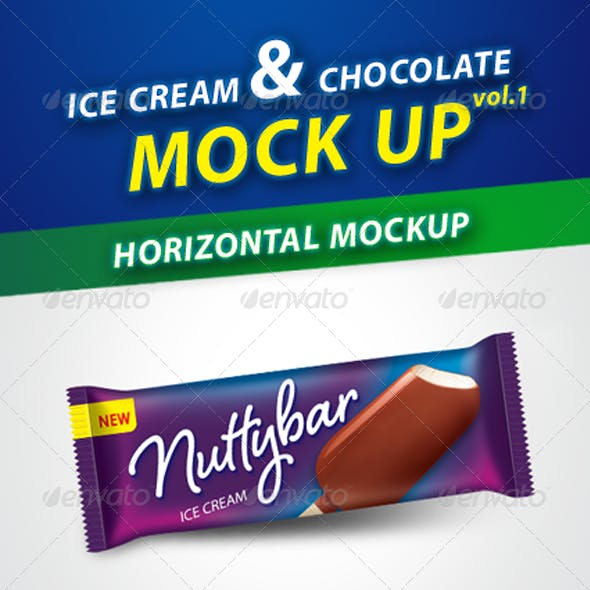 Ice Cream & Chocolate Bar Mockup