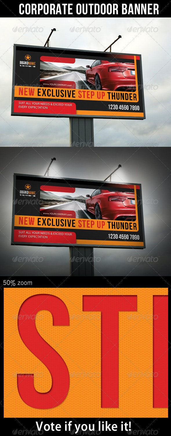 Corporate Product Outdoor Banner 03 - Signage Print Templates