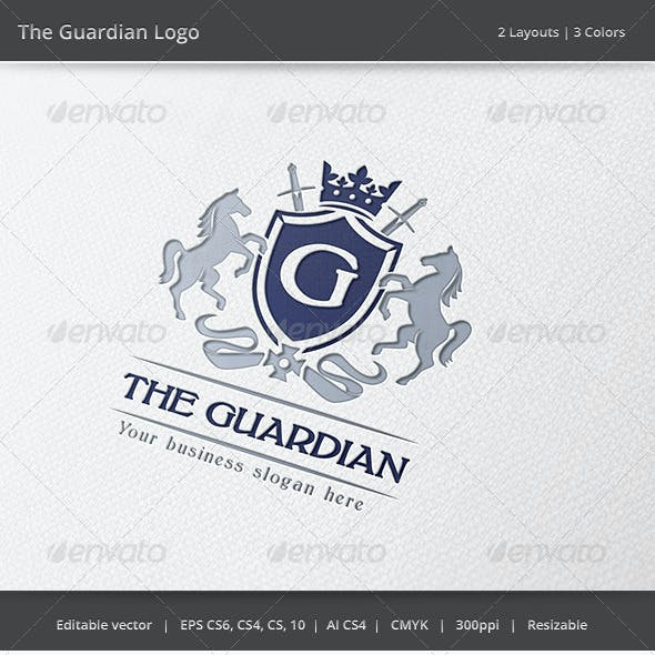 The Guardian Letter Crest Logo