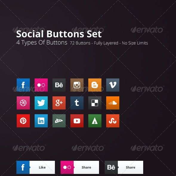 72 Social Buttons