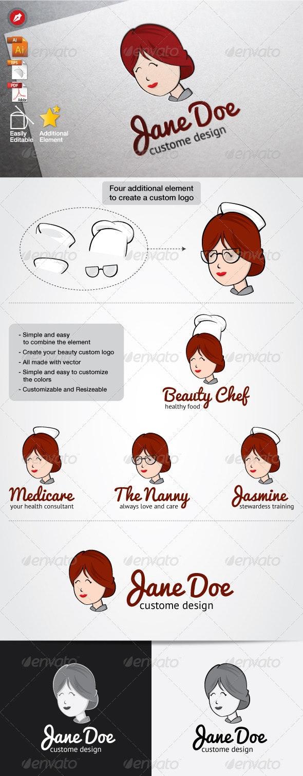 Jane Doe Logo - Humans Logo Templates