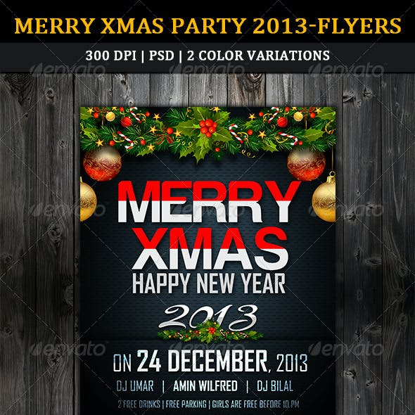 Merry Xmas Party 2013 Flyer