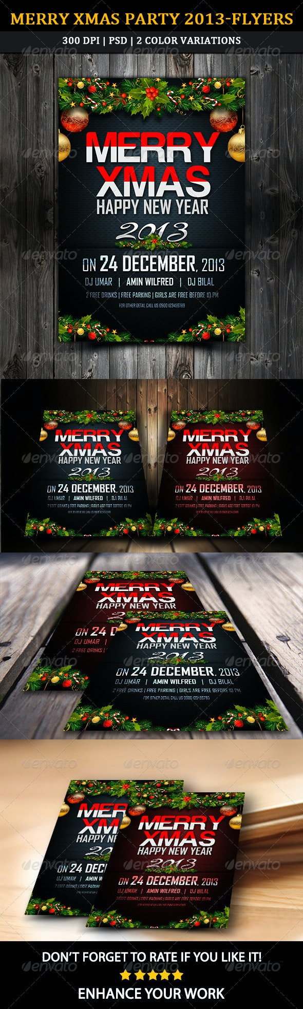 Merry Xmas Party 2013 Flyer - Clubs & Parties Events