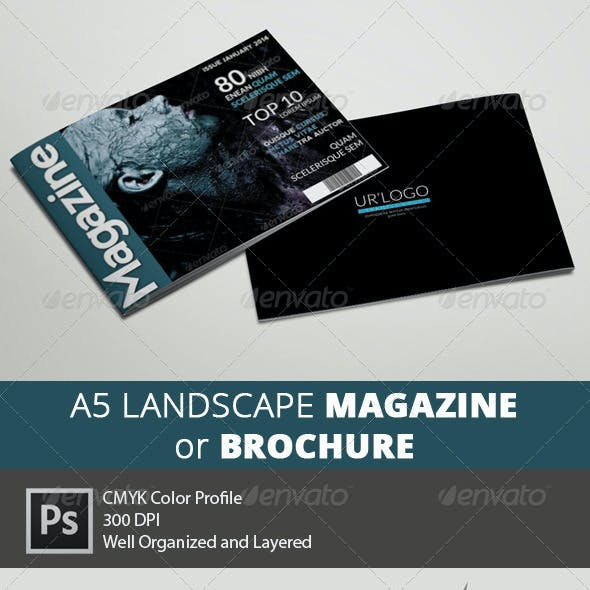 A5 Landscape Magazine - Multipurpose