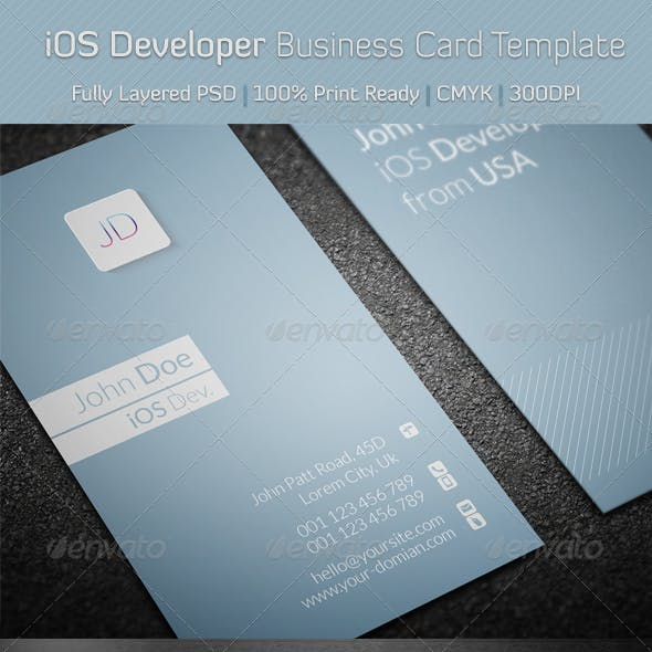 iOS Developer Business Card Template