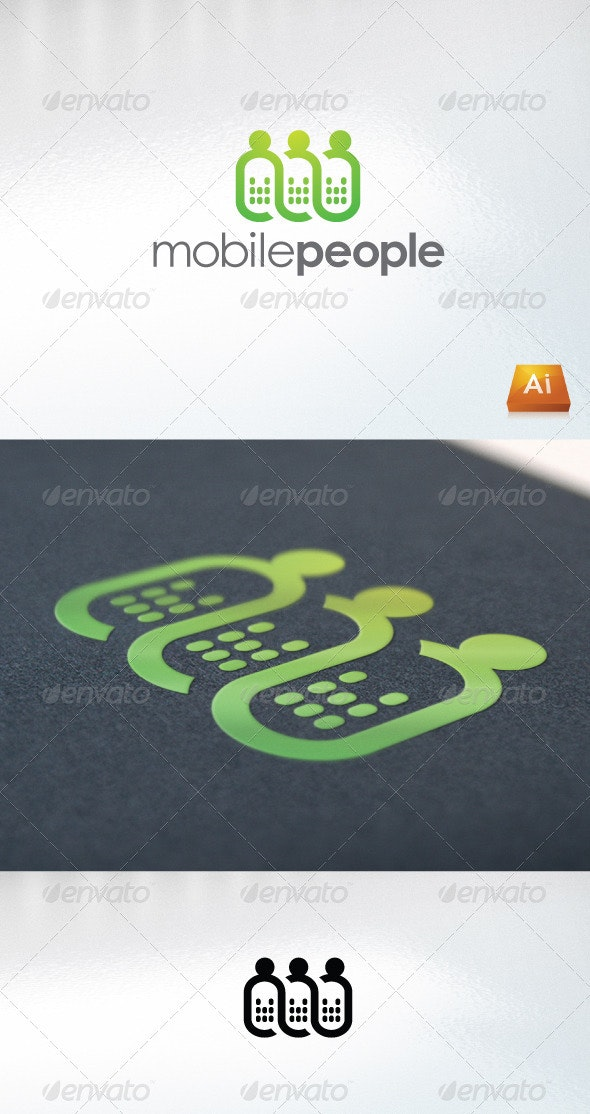 Mobile People - Humans Logo Templates