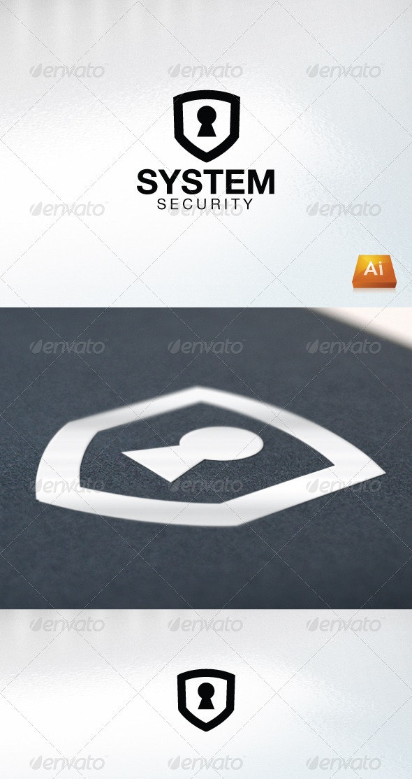 System Security - Abstract Logo Templates