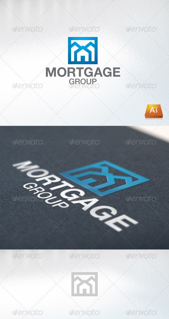 Mortgage Group - Buildings Logo Templates
