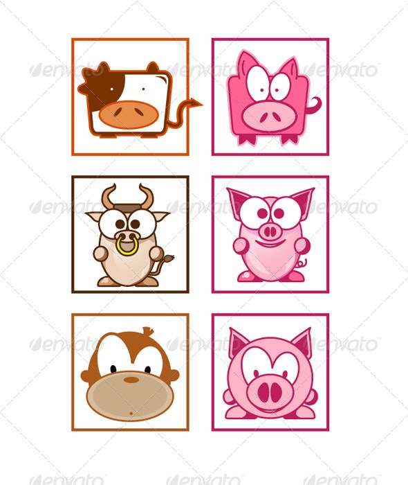 Animal Shapes - Animals Characters