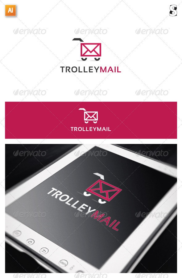 Trolley Mail - Objects Logo Templates