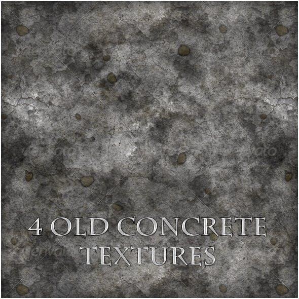4 Old Concrete Textures