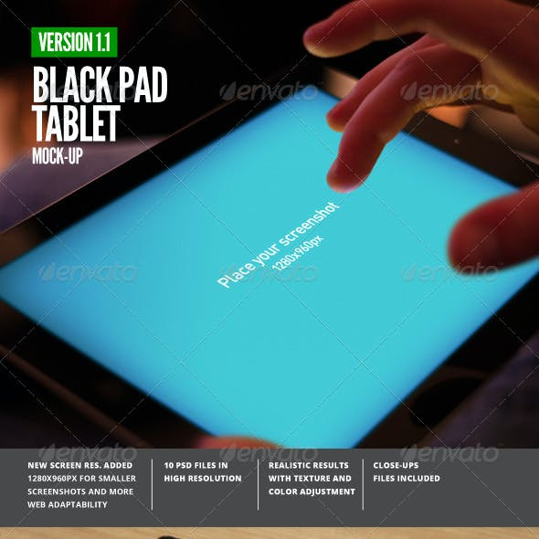 Black Pad | Tablet App UI Mock-Up