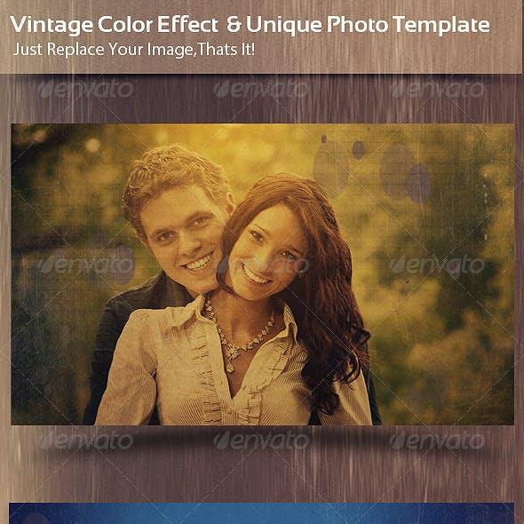 Vintage Color Effect  & Unique Photo Template