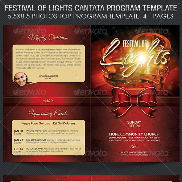 Festival of Lights Christmas Program Template