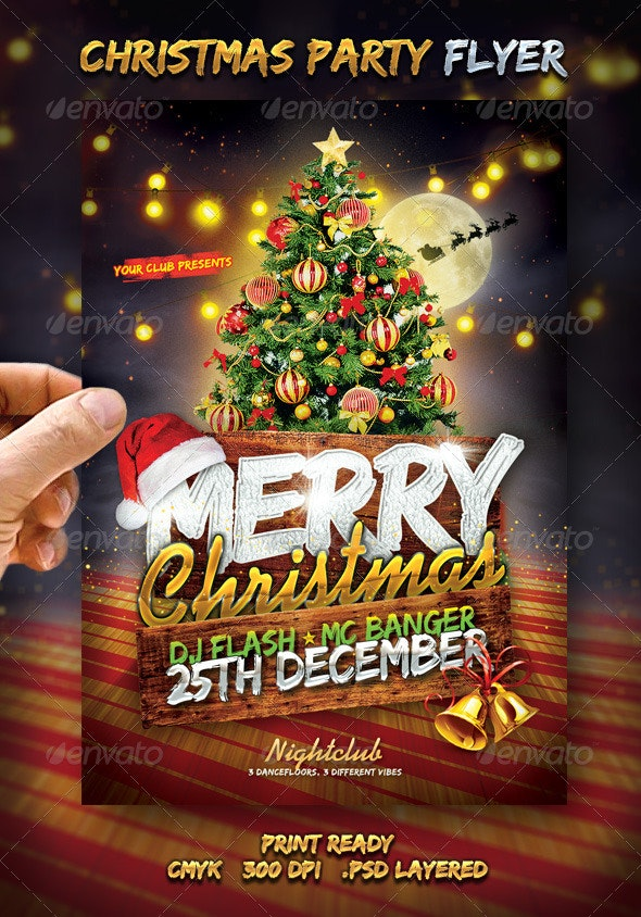 Christmas Flyer.Merry Christmas Flyer