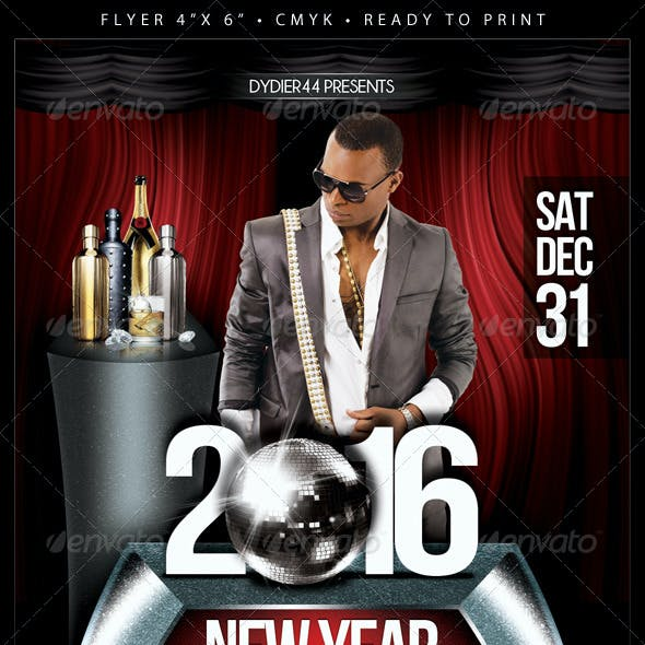 2016 New Year (Flyer Template 4x6)