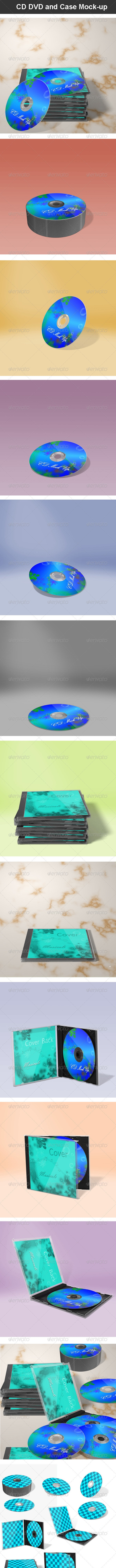 CD DVD and Case Mock-up - Packaging Product Mock-Ups