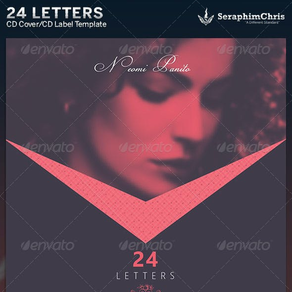 24 Letters: CD Cover Artwork Template