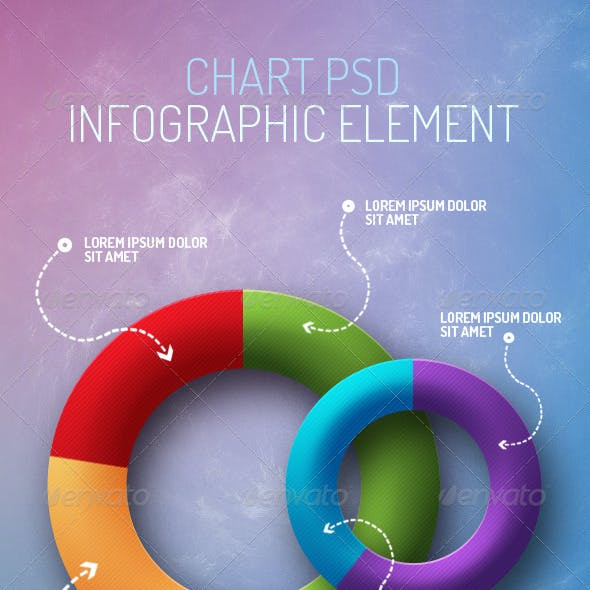 Pie Chart Infographic Element PSD