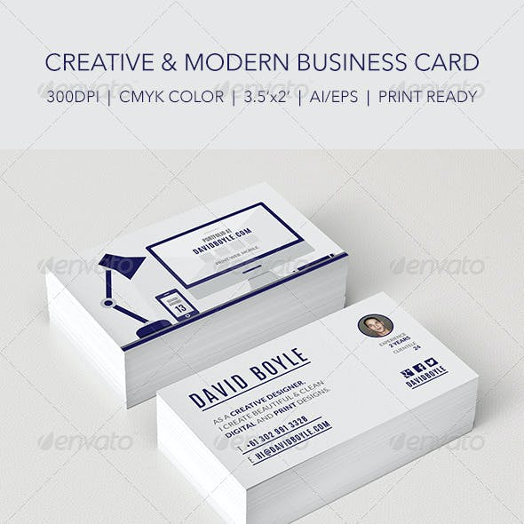 Modern & Minimally Illustrated Designer Card