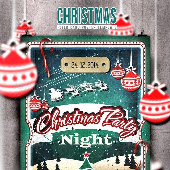 Christmas Flyer/Poster Retro Vol.7