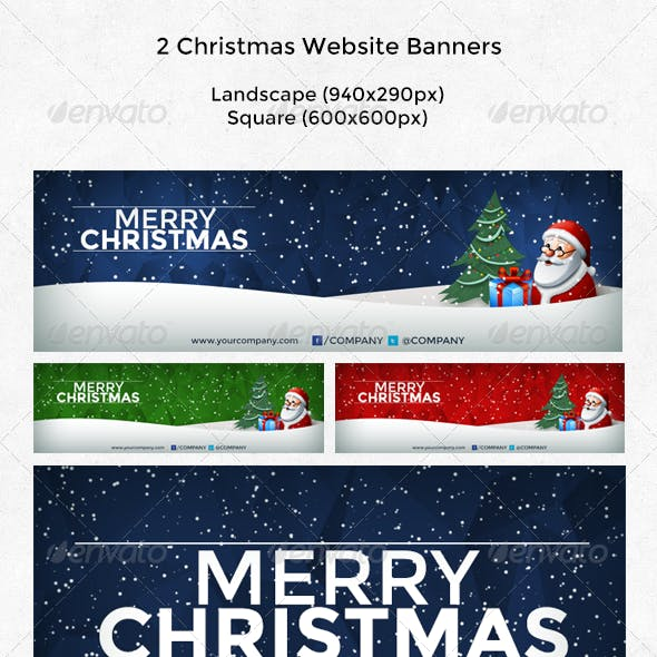 2 Christmas Website Banners