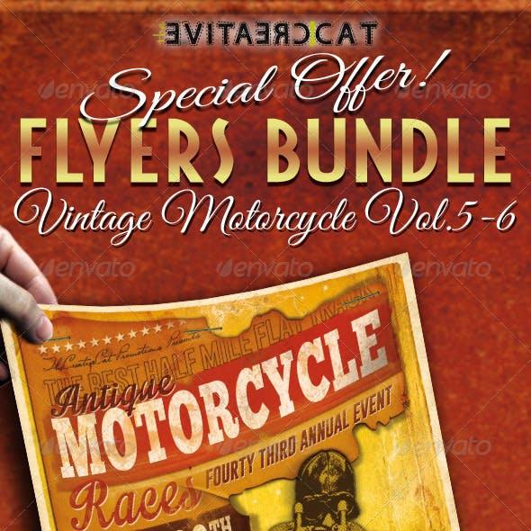 Vintage Motorcycle Flyer/Poster Bundle Vol. 5-6