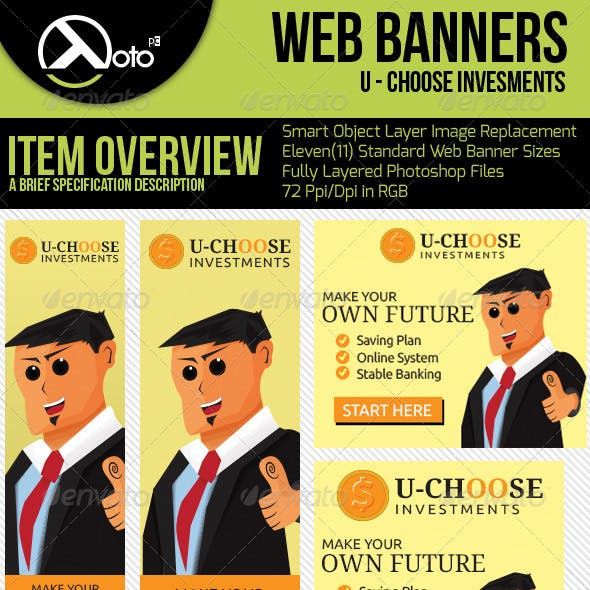 U Choose Online Investment Web Banners