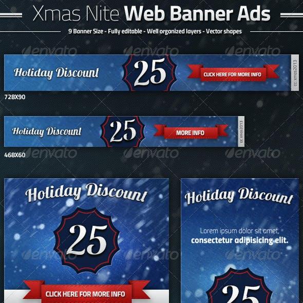 Xmas Nite Web Banner Ads