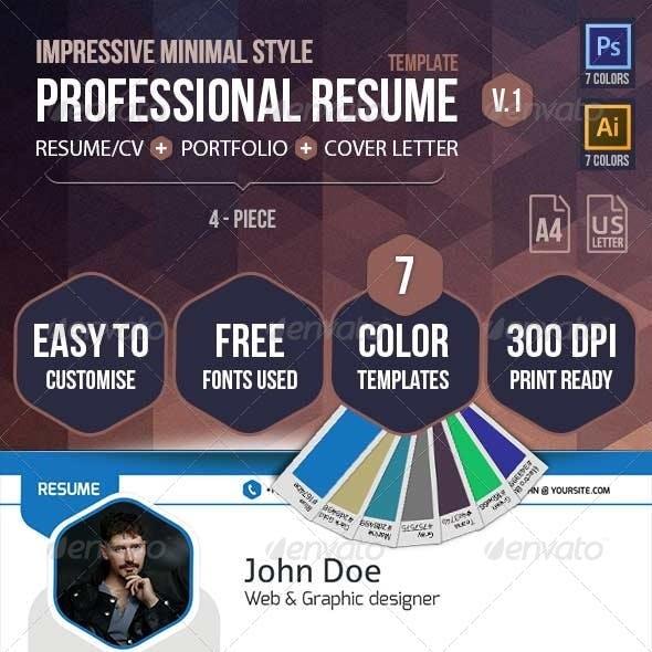 Impressive Professional Resume Template